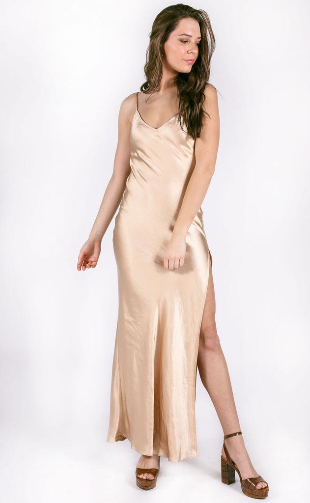 cosmo silky dress - sand