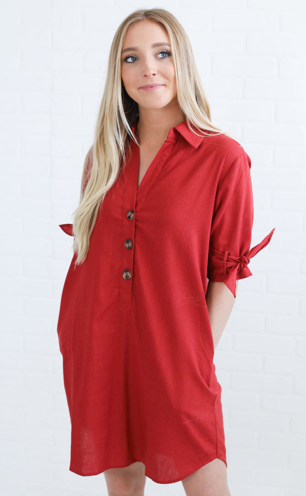 country club button up dress