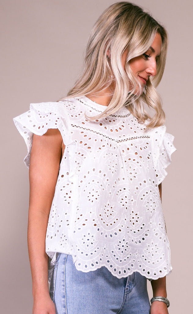 country song eyelet top