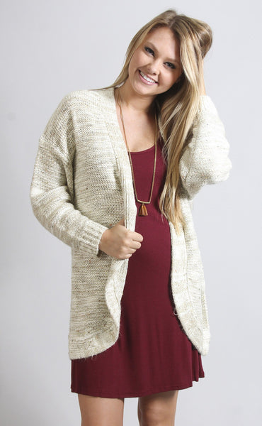 cozy cute confetti cardigan