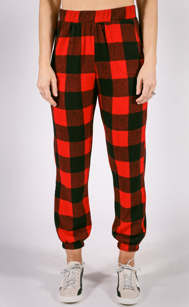 cozy nights checkered pants
