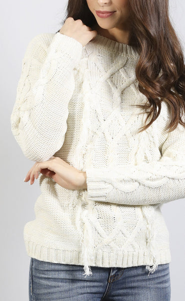 cozy time cable knit sweater