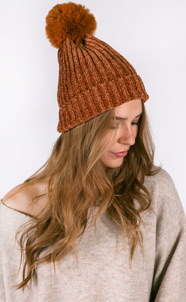 cozy up chenille beanie