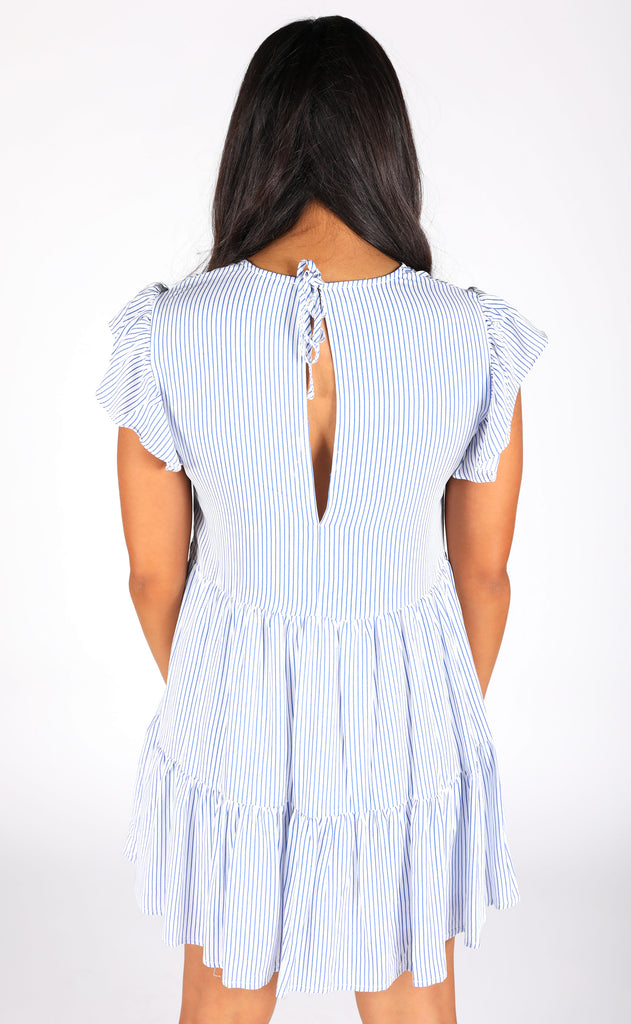 crashing waves striped dress