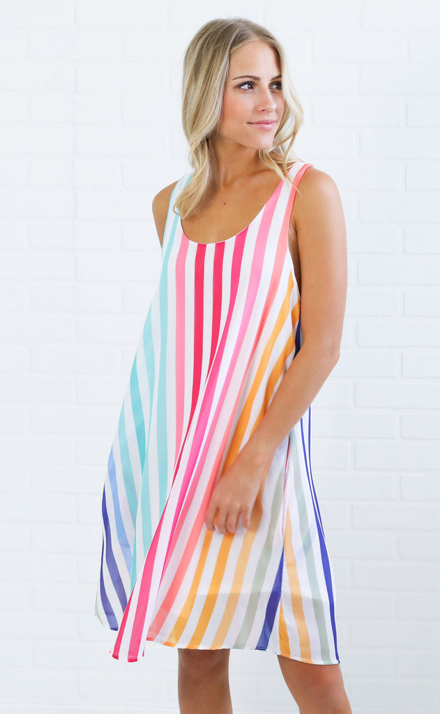 creamsicle striped dress