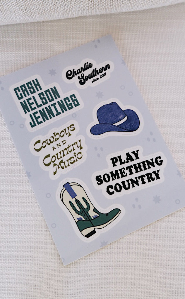 charlie southern: southern gents sticker sheet