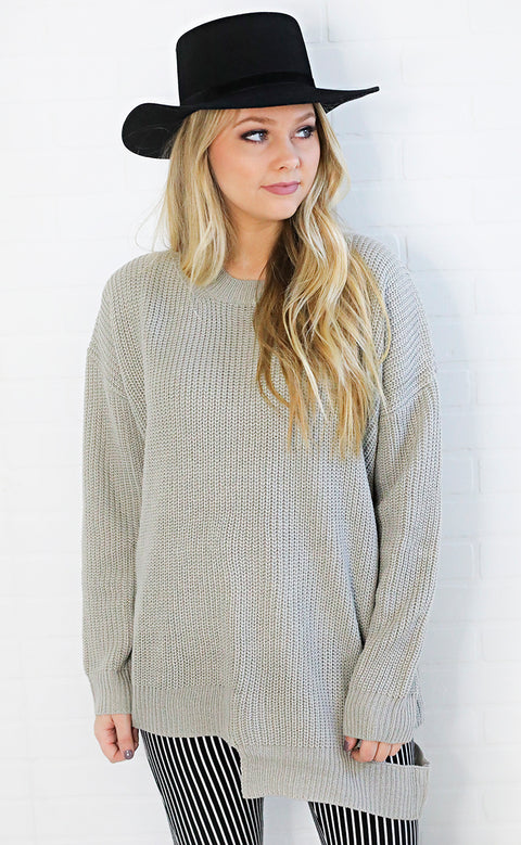 cut it out distressed sweater