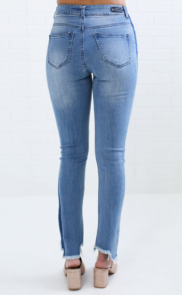 cut to the chase distressed jeans