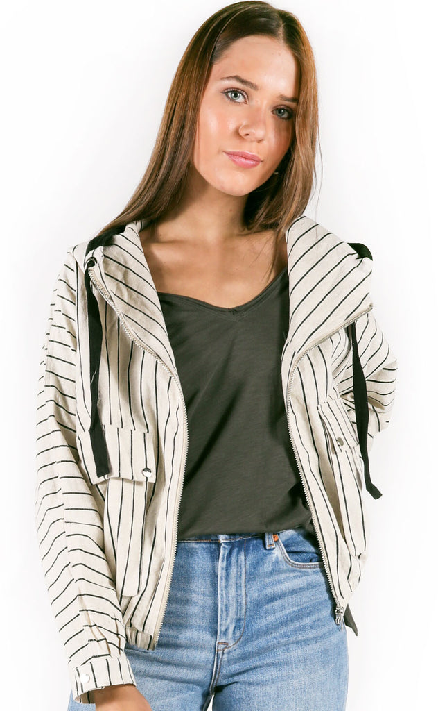 cute as a button striped jacket
