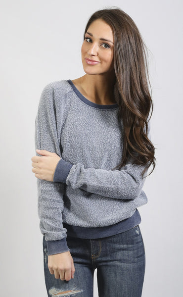 z supply: dakota reverse fleece sweatshirt