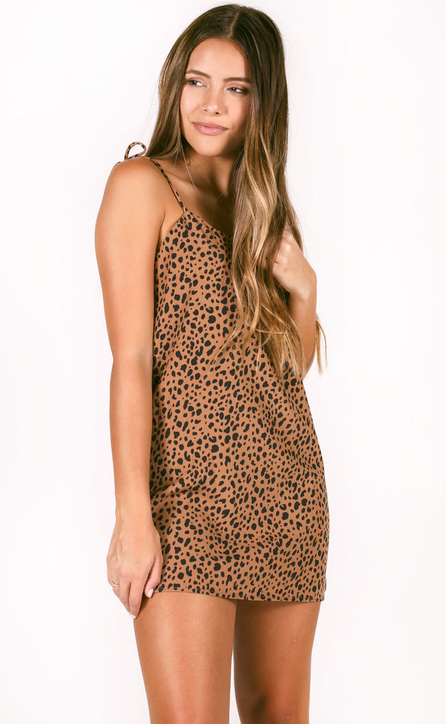 dance with me slip dress - taupe