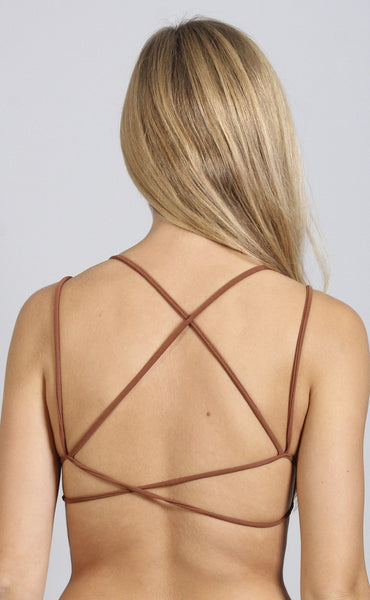 dare to bare strappy bralette - copper