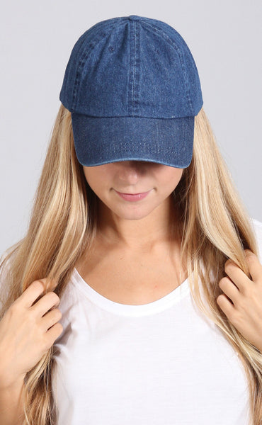 playin' games baseball cap - dark denim
