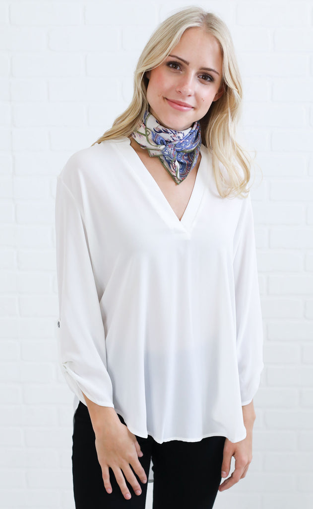 darling woven top - ivory