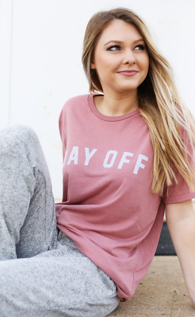 friday + saturday: day off t shirt