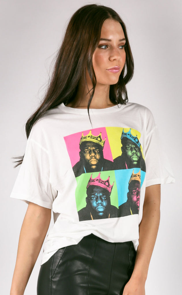 daydreamer: biggie pop color boyfriend tee