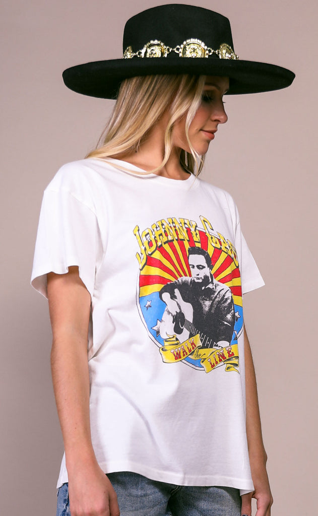 daydreamer: tour tee - johnny cash icon