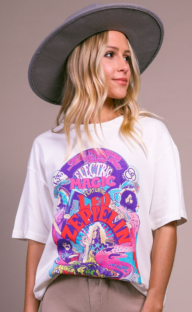 daydreamer: led zeppelin electric magic weekend tee
