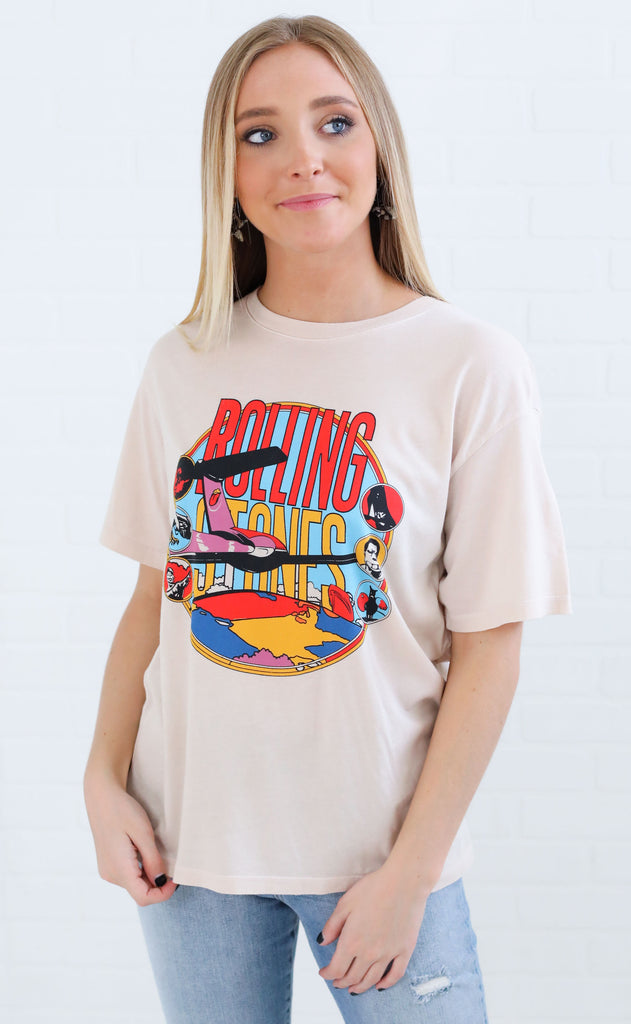 daydreamer: rolling stones around the world tee