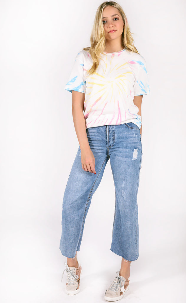 daydreamer: weekend tee - starburst tie dye