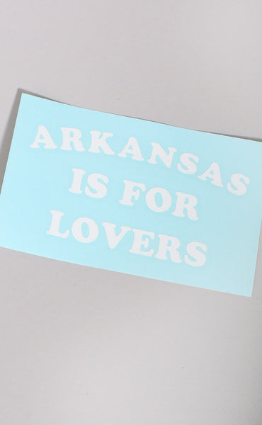 arkansas is for lovers decal