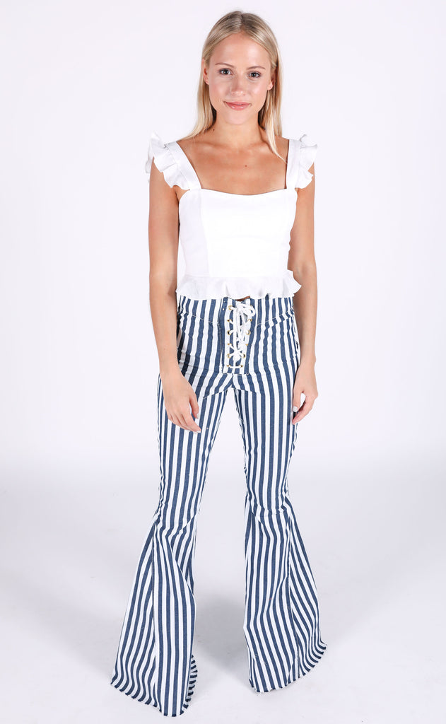 show me your mumu: delia crop top - white crinkle crepe