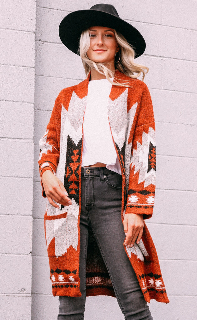 desert destination knit cardigan