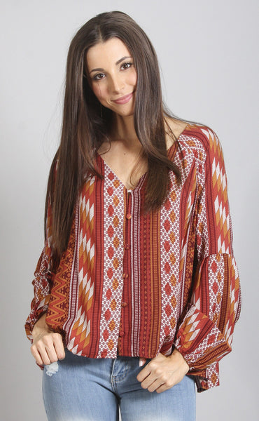 desert dweller printed top
