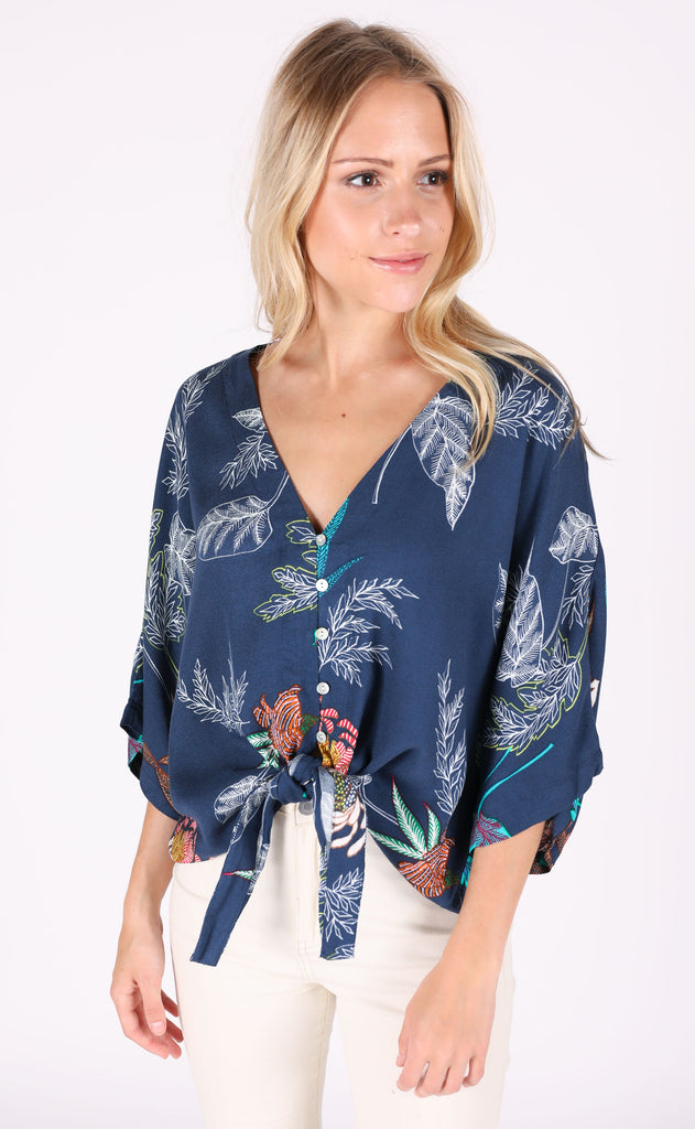 desert flowers printed top