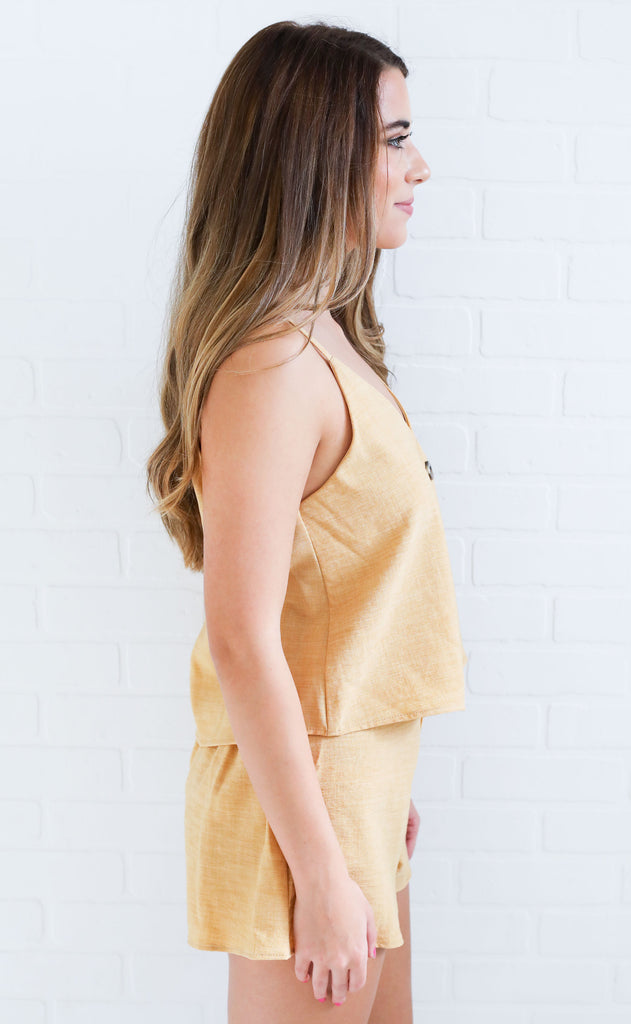 desert sun two piece set - yellow