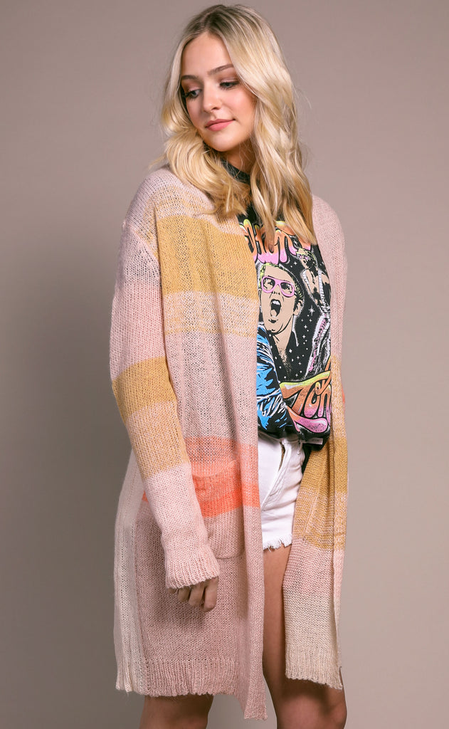 desert sunset knit cardigan