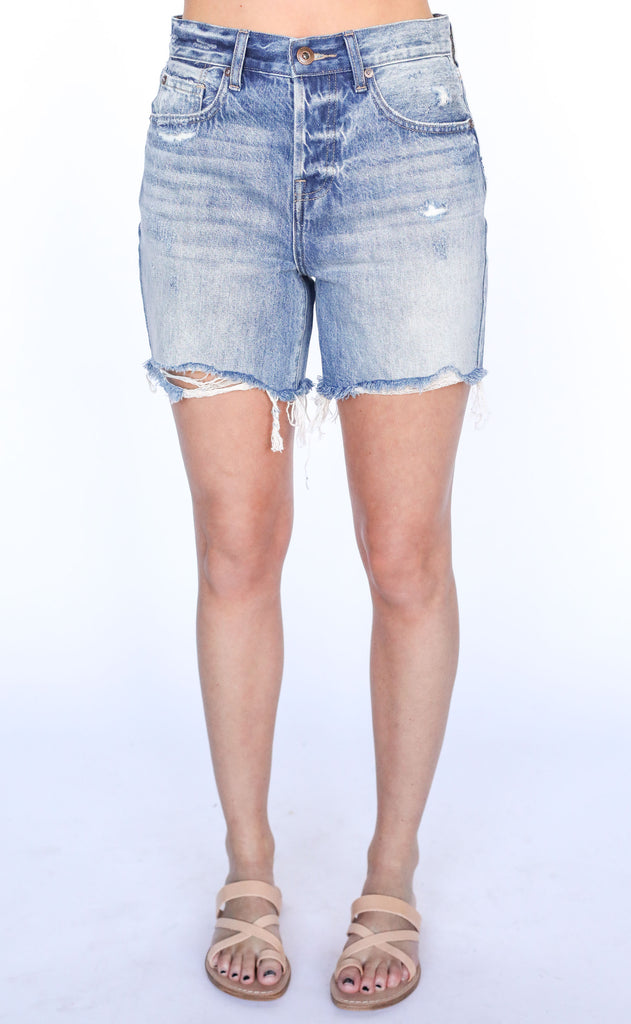 devin distressed jean shorts