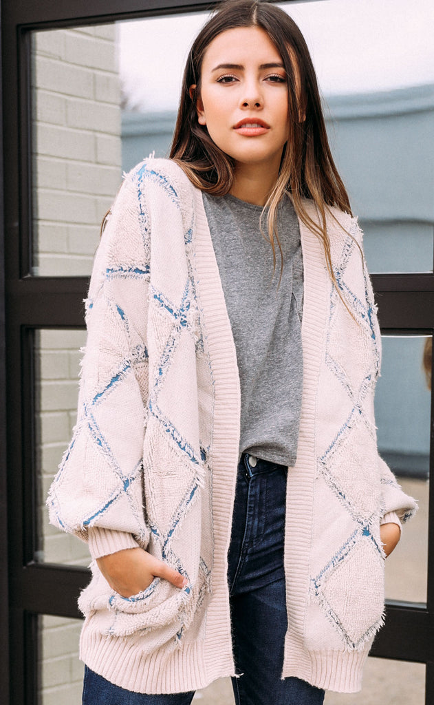 diamond oversized cardigan
