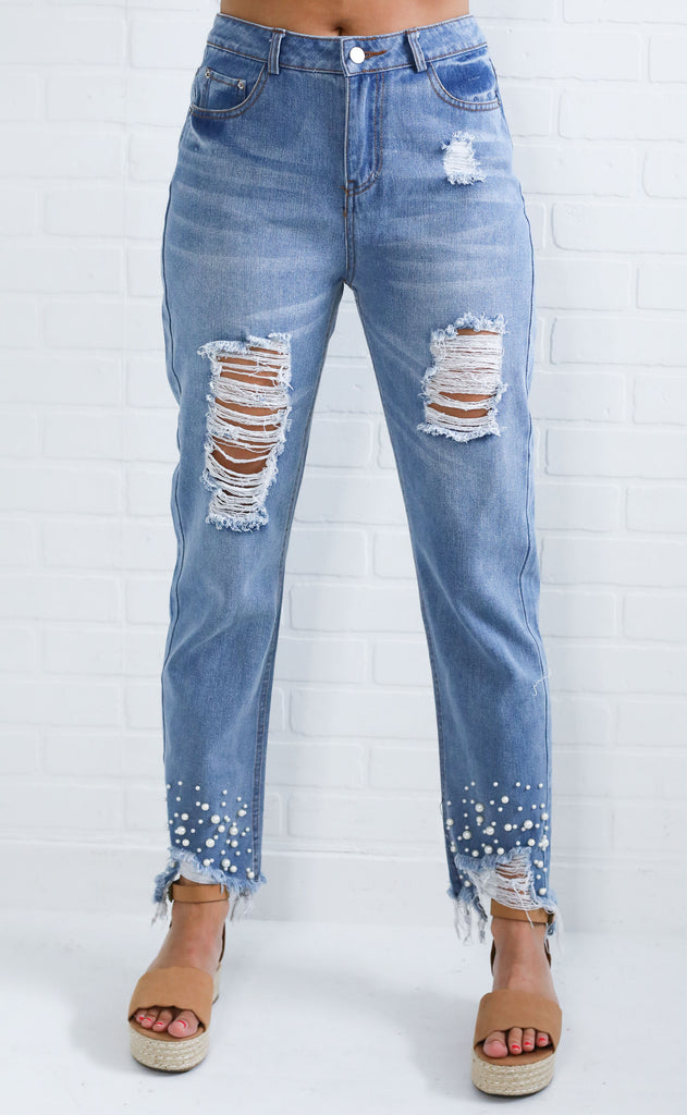 distressed is more embellished jeans