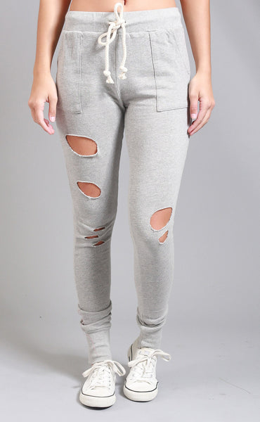 over you distressed joggers