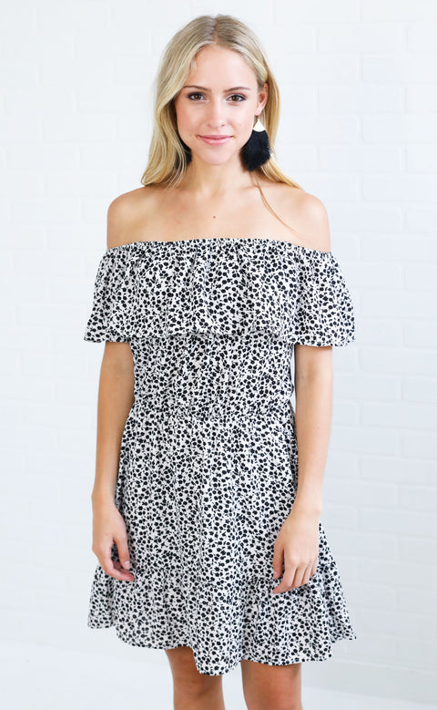 ditzy daisies printed dress