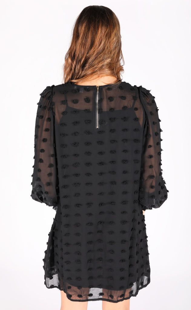 dot dot dot mini dress - black
