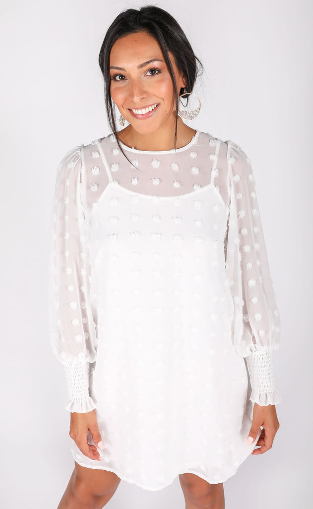 dot dot dot mini dress - ivory