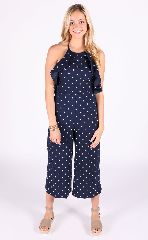 dots for you printed jumpsuit