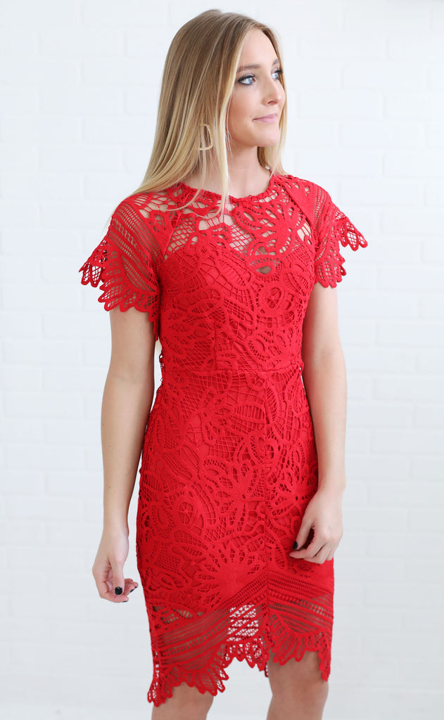 downtown lace dress
