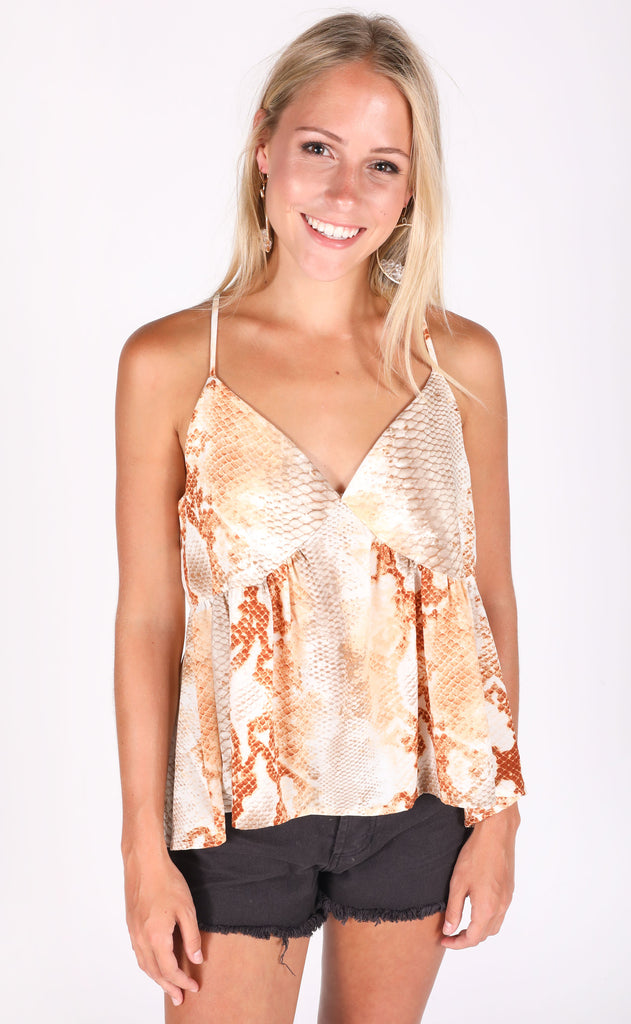 downtown printed top