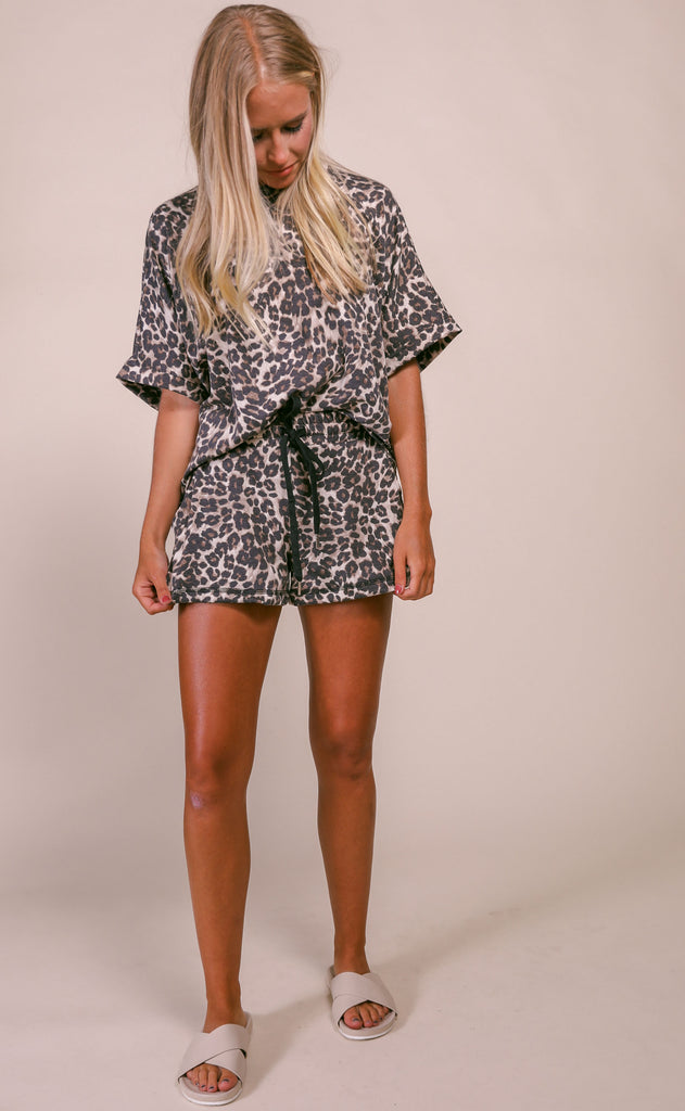 dreamer two piece set - leopard