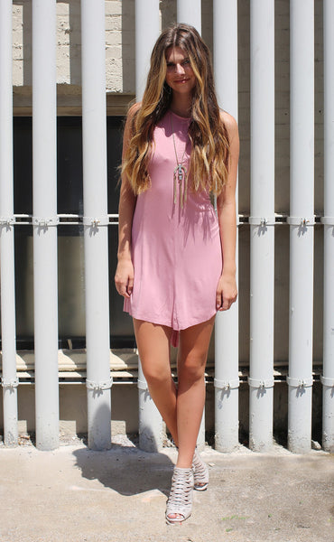 split intentions dress - pink