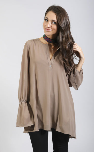show me your mumu: perveen pirate tunic - dune chiffon