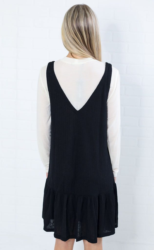 dynamic duo knit dress - black