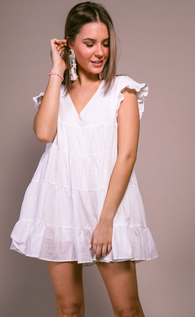 easy going tiered romper - ivory