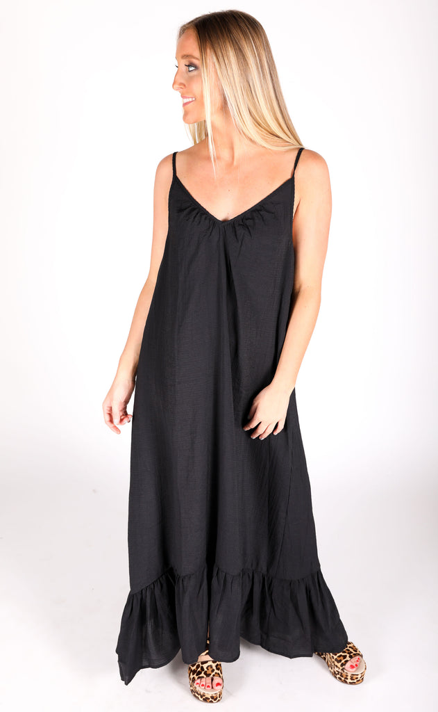 easy livin maxi dress - black