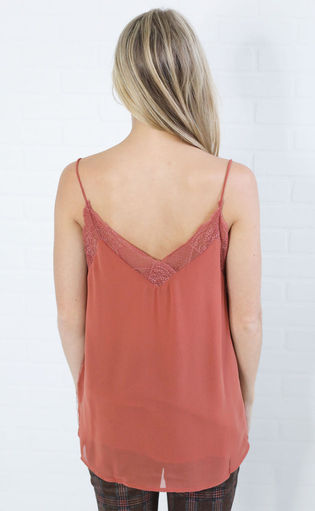easy peasy lace top - ginger