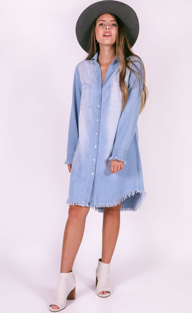 easy street denim dress