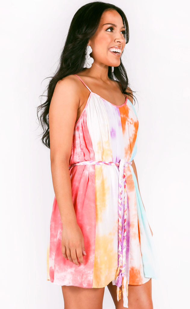 electric feels tie dye dress